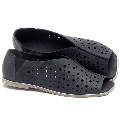 Laranja_Lima_Shoes_Sapatos_Femininos_Sandalia_Rasteira_Flat_em_Couro_Preto_-_Codigo_-_145040_1
