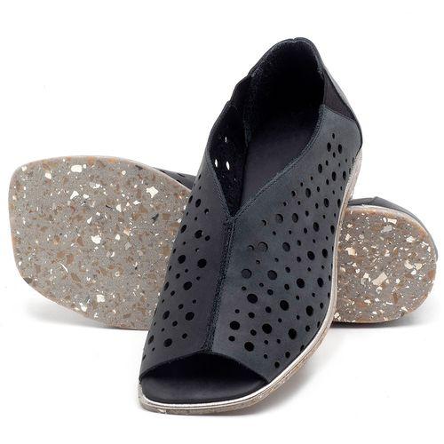 Laranja_Lima_Shoes_Sapatos_Femininos_Sandalia_Rasteira_Flat_em_Couro_Preto_-_Codigo_-_145040_2