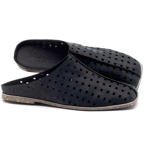 Laranja_Lima_Shoes_Sapatos_Femininos_Sandalia_Rasteira_Flat_em_Couro_Preto_-_Codigo_-_145042_1