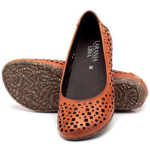 Laranja_Lima_Shoes_Sapatos_Femininos_Sapatilha_Bico_Redondo_em_Couro_Laranja_-_Codigo_-_148016_2