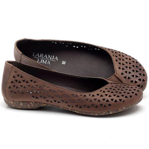 Laranja_Lima_Shoes_Sapatos_Femininos_Sapatilha_Bico_Redondo_em_Couro_Marrom_-_Codigo_-_148017_1