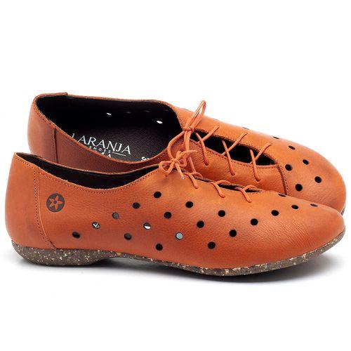 Laranja_Lima_Shoes_Sapatos_Femininos_Sapatilha_Bico_Redondo_em_Couro_Laranja_-_Codigo_-_148018_1