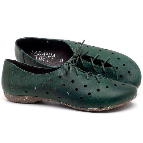 Laranja_Lima_Shoes_Sapatos_Femininos_Sapatilha_Bico_Redondo_em_Couro_Verde_-_Codigo_-_148018_1