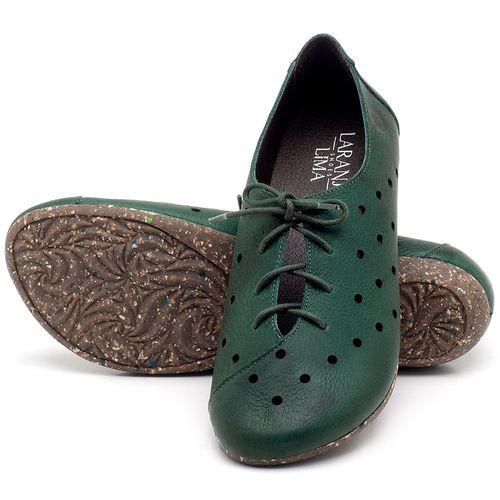 Laranja_Lima_Shoes_Sapatos_Femininos_Sapatilha_Bico_Redondo_em_Couro_Verde_-_Codigo_-_148018_2