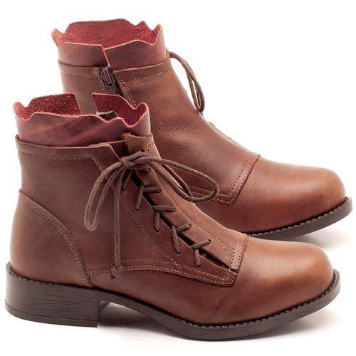 Laranja_Lima_Shoes_Sapatos_Femininos_Bota_Cano_Curto_em_Couro_Marrom_-_Codigo_-_141066_1