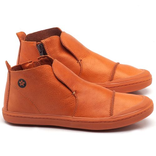 Laranja_Lima_Shoes_Sapatos_Femininos_Tenis_Cano_Alto_em_Couro_Laranja_-_Codigo_-_141074_1