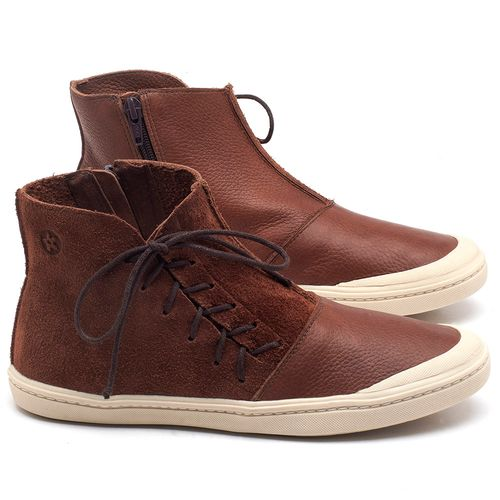 Laranja_Lima_Shoes_Sapatos_Femininos_Tenis_Cano_Alto_em_Couro_Marrom_-_Codigo_-_141073_1