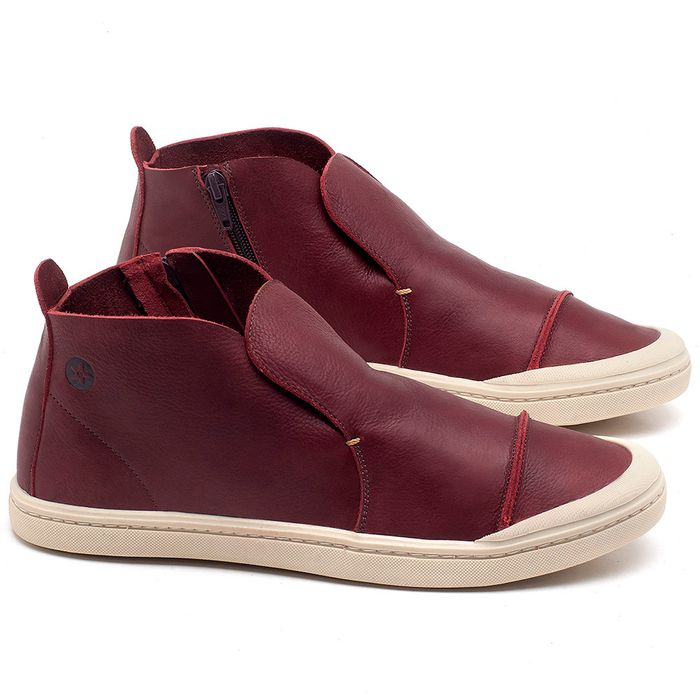 Laranja_Lima_Shoes_Sapatos_Masculinos_Tenis_Cano_Alto_em_Couro_Vinho_-_Codigo_-_141086_1