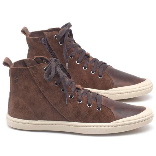 Laranja_Lima_Shoes_Sapatos_Masculinos_Tenis_Cano_Alto_em_Couro_Marrom_-_Codigo_-_141087_1