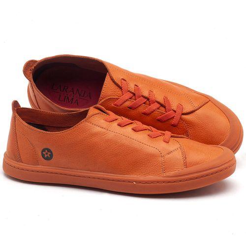 Laranja_Lima_Shoes_Sapatos_Masculinos_Tenis_Cano_Baixo_em_Couro_Laranja_-_Codigo_-_141088_1