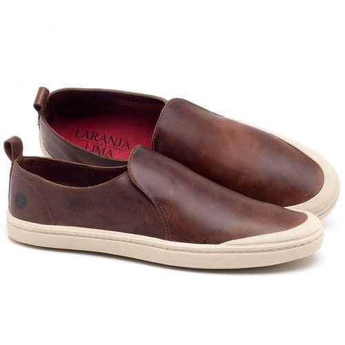 Laranja_Lima_Shoes_Sapatos_Masculinos_Tenis_Cano_Baixo_em_Couro_Marrom_-_Codigo_-_141089_1