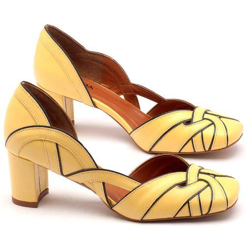 Laranja_Lima_Shoes_Sapatos_Femininos_Scarpin_Salto_Medio_de_6_cm_em_Couro_Amarelo_-_Codigo_-_3542_1