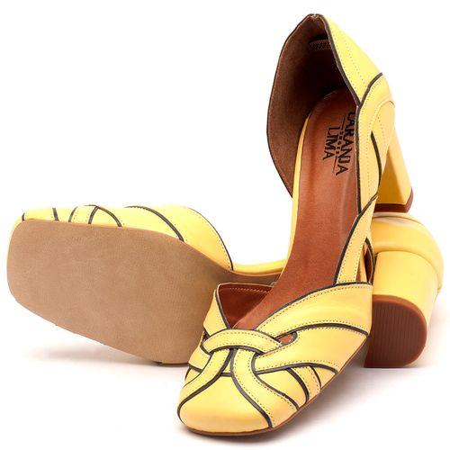 Laranja_Lima_Shoes_Sapatos_Femininos_Scarpin_Salto_Medio_de_6_cm_em_Couro_Amarelo_-_Codigo_-_3542_2