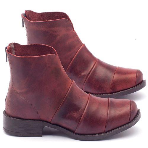 Laranja_Lima_Shoes_Sapatos_Femininos_Bota_Cano_Curto_Salto_de_3_cm_em_Couro_Bordo_-_Codigo_-_141001_1