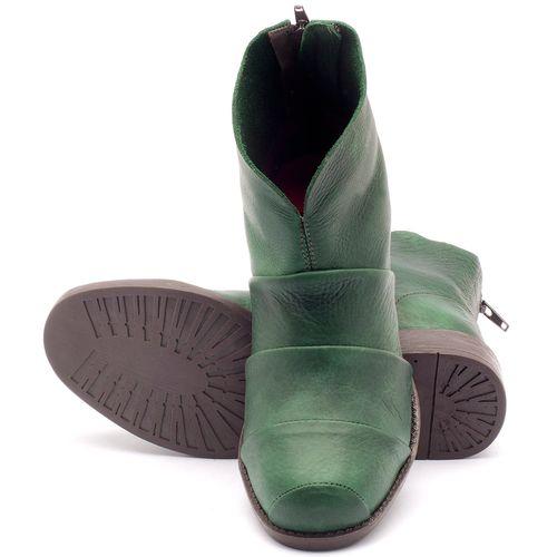 Laranja_Lima_Shoes_Sapatos_Femininos_Bota_Cano_Curto_Salto_de_3_cm_em_Couro_Verde_-_Codigo_-_141001_1
