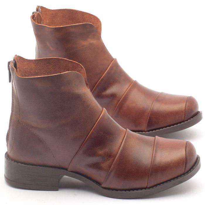 Laranja_Lima_Shoes_Sapatos_Femininos_Bota_Cano_Curto_Salto_de_3_cm_em_Couro_Marrom_-_Codigo_-_141001_1