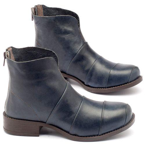 Laranja_Lima_Shoes_Sapatos_Femininos_Bota_Cano_Curto_Salto_de_3_cm_em_Couro_Marinho_-_Codigo_-_141001_1