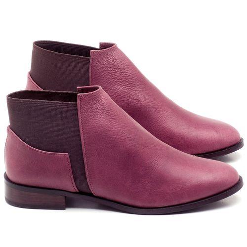 Laranja_Lima_Shoes_Sapatos_Femininos_Bota_Cano_Curto_Salto_de_2_cm_em_Couro_Vinho_-_Codigo_-_9436_1