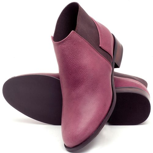 Laranja_Lima_Shoes_Sapatos_Femininos_Bota_Cano_Curto_Salto_de_2_cm_em_Couro_Vinho_-_Codigo_-_9436_2