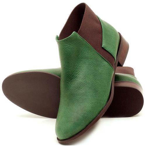Laranja_Lima_Shoes_Sapatos_Femininos_Bota_Cano_Curto_Salto_de_2_cm_em_Couro_Verde_-_Codigo_-_9436_2