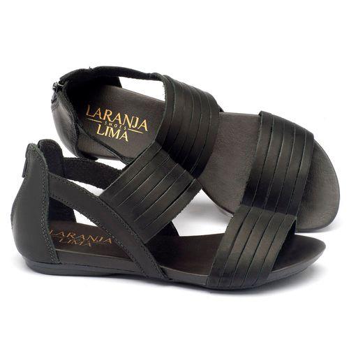 Laranja_Lima_Shoes_Sapatos_Femininos_Sandalia_Rasteira_Flat_em_Couro_Preto_-_Codigo_-_137009_1