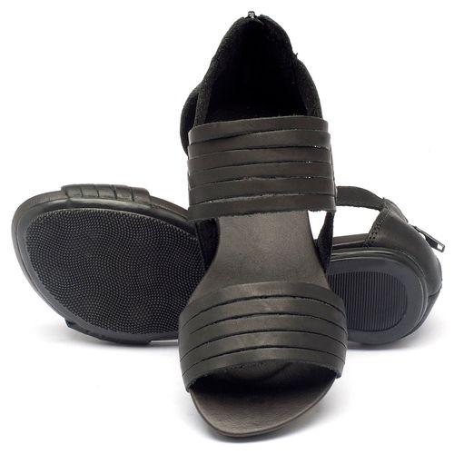 Laranja_Lima_Shoes_Sapatos_Femininos_Sandalia_Rasteira_Flat_em_Couro_Preto_-_Codigo_-_137009_2