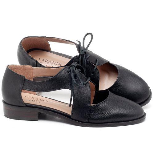 Laranja_Lima_Shoes_Sapatos_Femininos_Oxford_Laranja_Lima_Shoes_Salto_de_2_cm_em_Couro_Preto_-_Codigo_-_9410_1