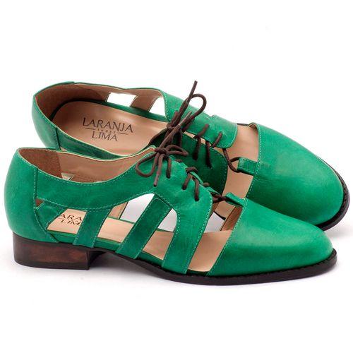 Laranja_Lima_Shoes_Sapatos_Femininos_Oxford_Laranja_Lima_Shoes_Salto_de_2_cm_em_Couro_Verde_-_Codigo_-_9410_1