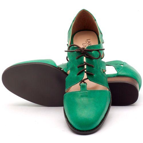 Laranja_Lima_Shoes_Sapatos_Femininos_Oxford_Laranja_Lima_Shoes_Salto_de_2_cm_em_Couro_Verde_-_Codigo_-_9410_2