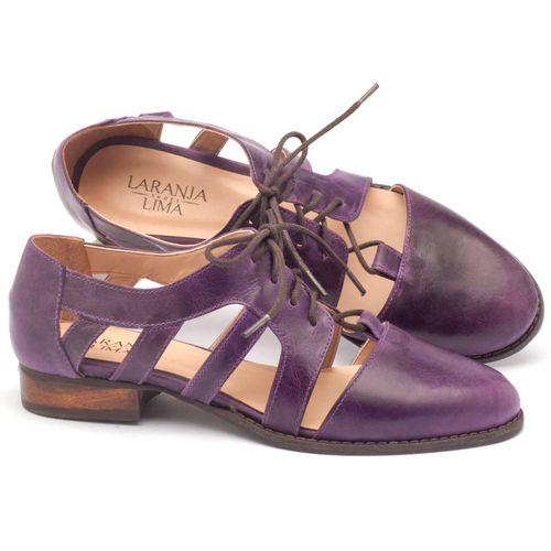 Laranja_Lima_Shoes_Sapatos_Femininos_Oxford_Laranja_Lima_Shoes_Salto_de_2_cm_em_Couro_Roxo_-_Codigo_-_9410_1