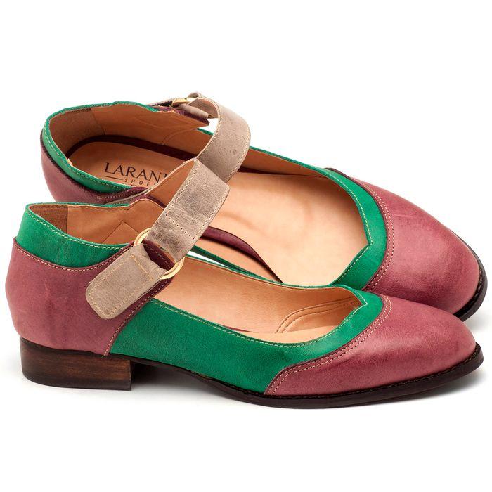 Laranja_Lima_Shoes_Sapatos_Femininos_Oxford_Laranja_Lima_Shoes_Salto_de_2_cm_em_Couro_Multicolor_-_Codigo_-_9400_1