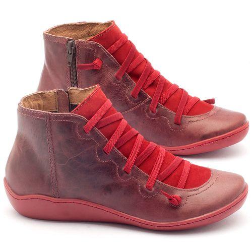 Laranja_Lima_Shoes_Sapatos_Femininos_Tenis_Cano_Alto_em_Couro_Vermelho_-_Codigo_-_139003_1