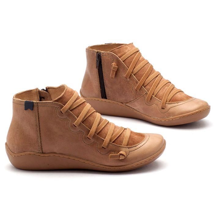 Laranja_Lima_Shoes_Sapatos_Femininos_Tenis_Cano_Alto_em_Couro_Bege_-_Codigo_-_139003_1