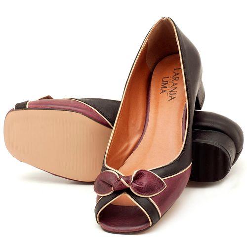 Laranja_Lima_Shoes_Sapatos_Femininos_Peep_Toe_Laranja_Lima_Shoes_Salto_de_4_cm_em_Couro_Bicolor_-_Codigo_-_3473_2