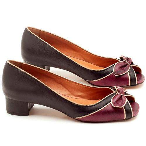 Laranja_Lima_Shoes_Sapatos_Femininos_Peep_Toe_Laranja_Lima_Shoes_Salto_de_4_cm_em_Couro_Bicolor_-_Codigo_-_3473_1