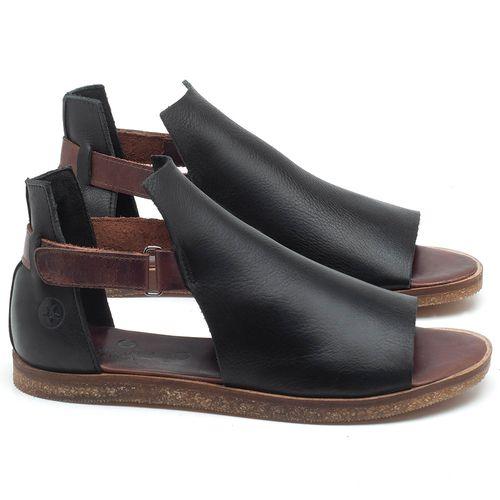Laranja_Lima_Shoes_Sapatos_Femininos_Sandalia_Rasteira_Flat_em_Couro_Preto_-_Codigo_-_141040_1