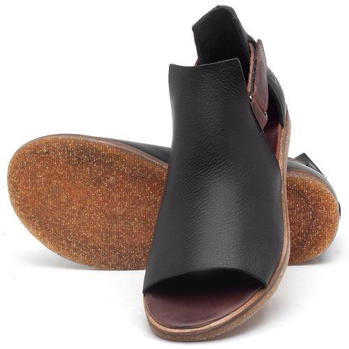 Laranja_Lima_Shoes_Sapatos_Femininos_Sandalia_Rasteira_Flat_em_Couro_Preto_-_Codigo_-_141040_2