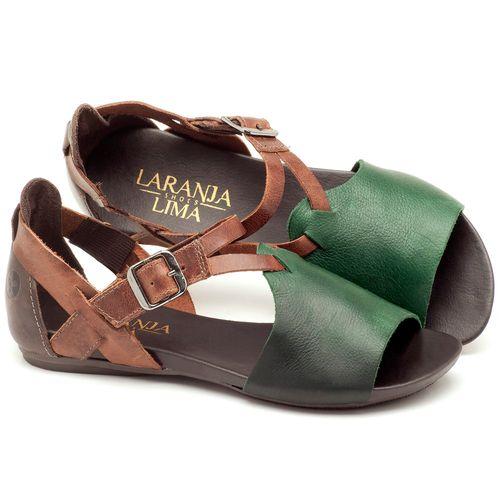 Laranja_Lima_Shoes_Sapatos_Femininos_Sandalia_Rasteira_Flat_em_Couro_Verde_-_Codigo_-_137050_1