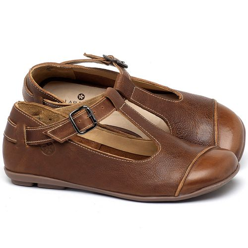 Laranja_Lima_Shoes_Sapatos_Femininos_Sapatilha_Bico_Redondo_em_Couro_Marrom_-_Codigo_-_9473_1