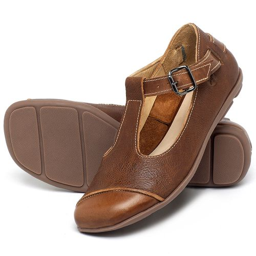 Laranja_Lima_Shoes_Sapatos_Femininos_Sapatilha_Bico_Redondo_em_Couro_Marrom_-_Codigo_-_9473_2