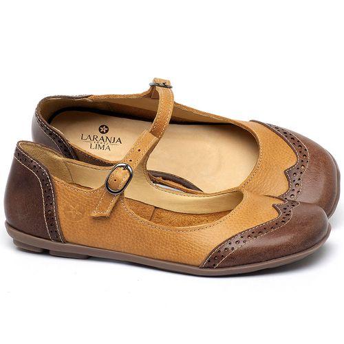 Laranja_Lima_Shoes_Sapatos_Femininos_Sapatilha_Bico_Redondo_em_Couro_Amarelo_-_Codigo_-_9474_1