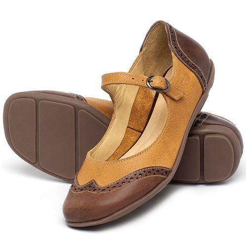Laranja_Lima_Shoes_Sapatos_Femininos_Sapatilha_Bico_Redondo_em_Couro_Amarelo_-_Codigo_-_9474_2