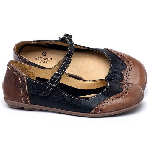 Laranja_Lima_Shoes_Sapatos_Femininos_Sapatilha_Bico_Redondo_em_Couro_Preto_-_Codigo_-_9474_1