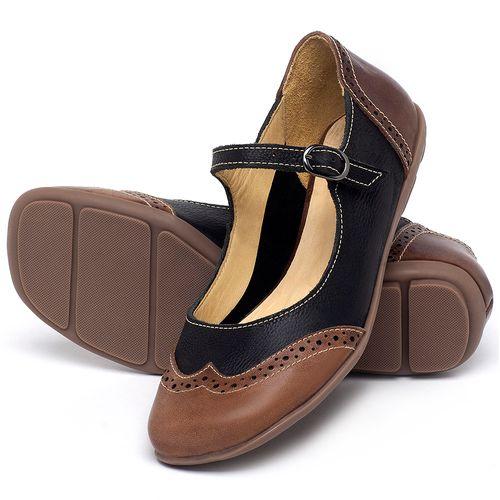 Laranja_Lima_Shoes_Sapatos_Femininos_Sapatilha_Bico_Redondo_em_Couro_Preto_-_Codigo_-_9474_2