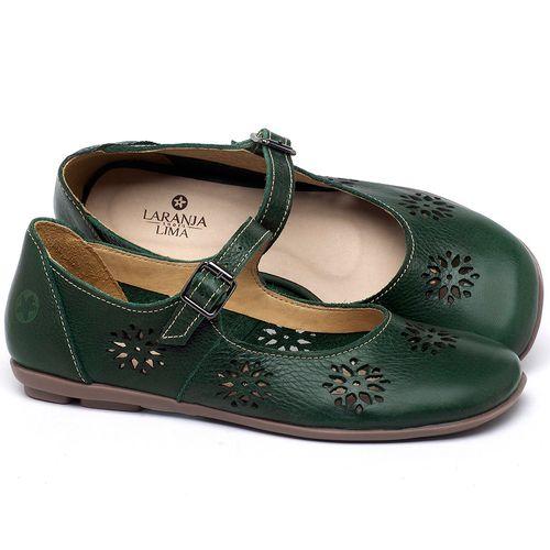 Laranja_Lima_Shoes_Sapatos_Femininos_Sapatilha_Bico_Redondo_em_Couro_Verde_-_Codigo_-_9475_1