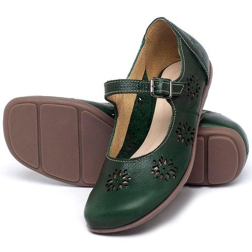Laranja_Lima_Shoes_Sapatos_Femininos_Sapatilha_Bico_Redondo_em_Couro_Verde_-_Codigo_-_9475_2