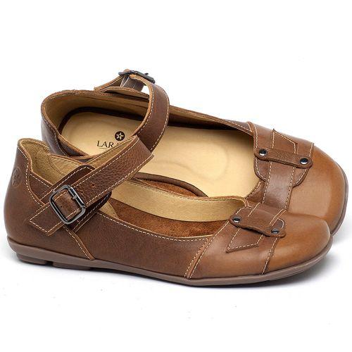 Laranja_Lima_Shoes_Sapatos_Femininos_Sapatilha_Bico_Redondo_em_Couro_Marrom_-_Codigo_-_9476_1