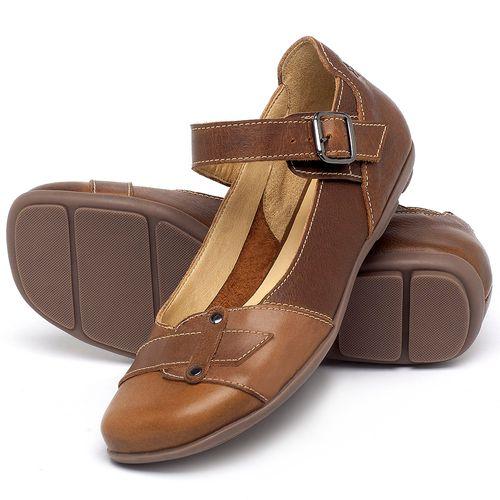 Laranja_Lima_Shoes_Sapatos_Femininos_Sapatilha_Bico_Redondo_em_Couro_Marrom_-_Codigo_-_9476_2