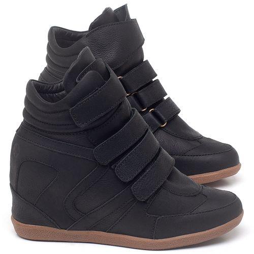 Laranja_Lima_Shoes_Sapatos_Femininos_Tenis_Cano_Alto_Salto_de_7_cm_em_Couro_Preto_-_Codigo_-_56202_1