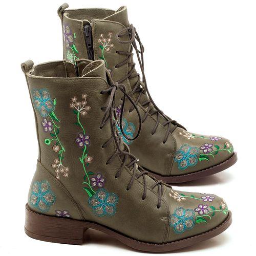 Laranja_Lima_Shoes_Sapatos_Femininos_Bota_Cano_Curto_Salto_de_2_cm_em_Couro_Verde_-_Codigo_-_141070_1